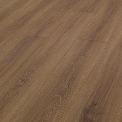 SPC Vinylboden mit integrierter Trittschalldämmung - Dekor: Brauneiche