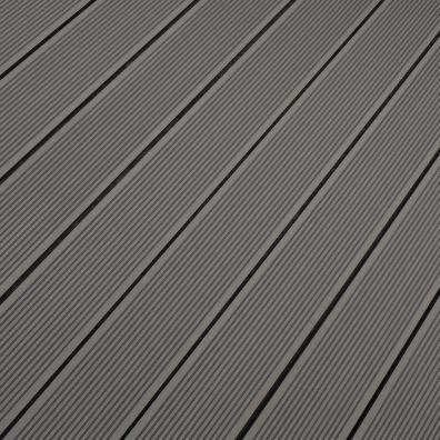 Terrassendiele WPC Hohlkammer hellgrau - gerillt/genutet