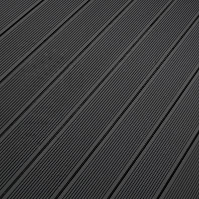 Terrassendiele WPC Hohlkammer dunkelgrau - gerillt/genutet